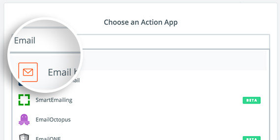 Zapier Action Select Email