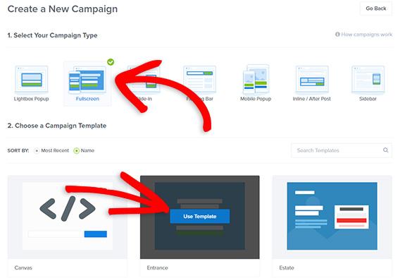 create new fullscreen adblock optin