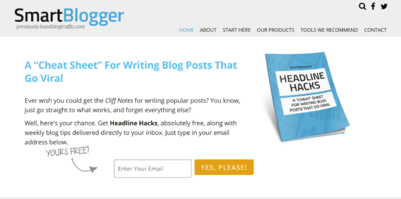 smartblogger optin typea