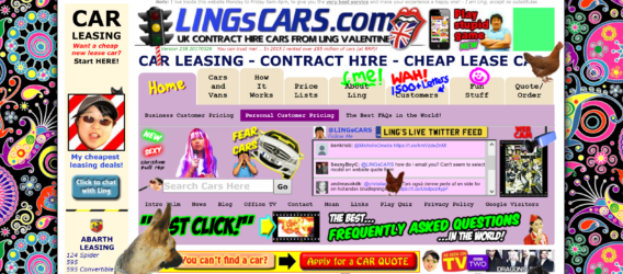 spammy websites - typoography