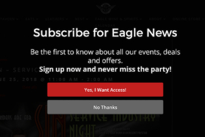 Baltimore Eagle Fullscreen Optin