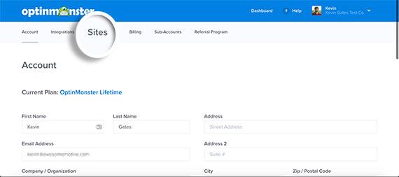 Click-Sites-on-OptinMonster-Account-Menu-v4
