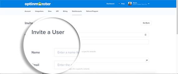 Invite-a-User-Page