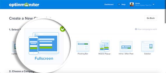 Select-Fullscreen-Campaign-Type-in-OptinMonster-v4