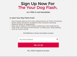 Tufts Your Dog Fullscreen Optin