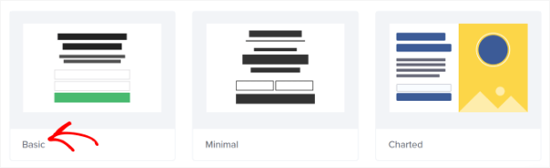 select the basic inline template