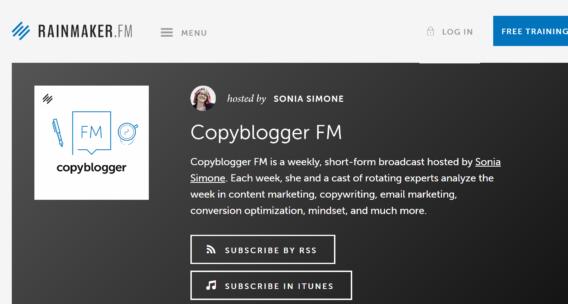 copybloggerfm marketing podcast