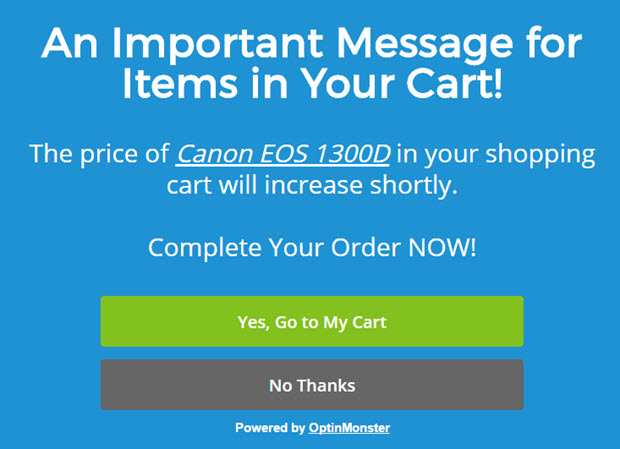 reduce shopping cart abandonment with personalized optins