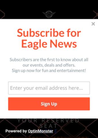 Baltimore Eagle Mobile Optin