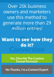 Contest Domination Mobile Optin