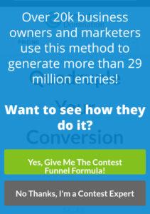 Contest Domination Mobile Optin