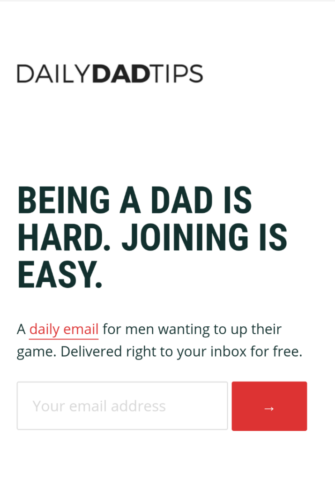 Daily Dad Tips Mobile Optin