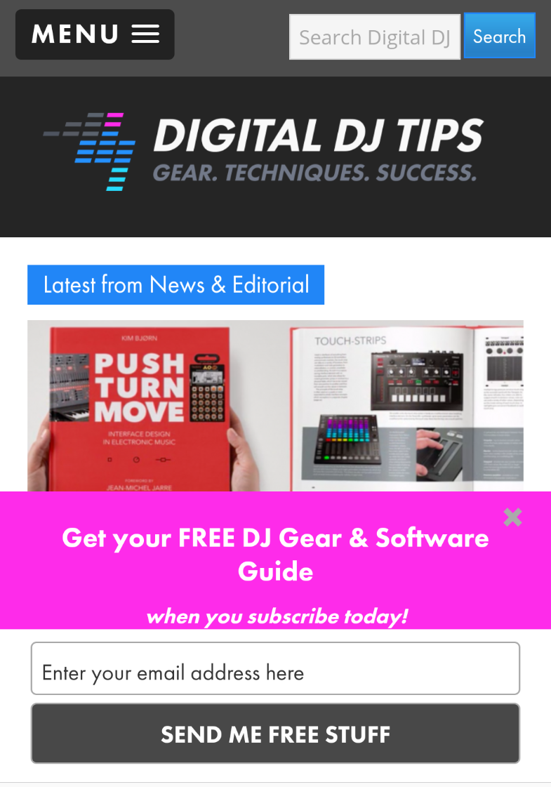 Digital DJ Tips Mobile Optin
