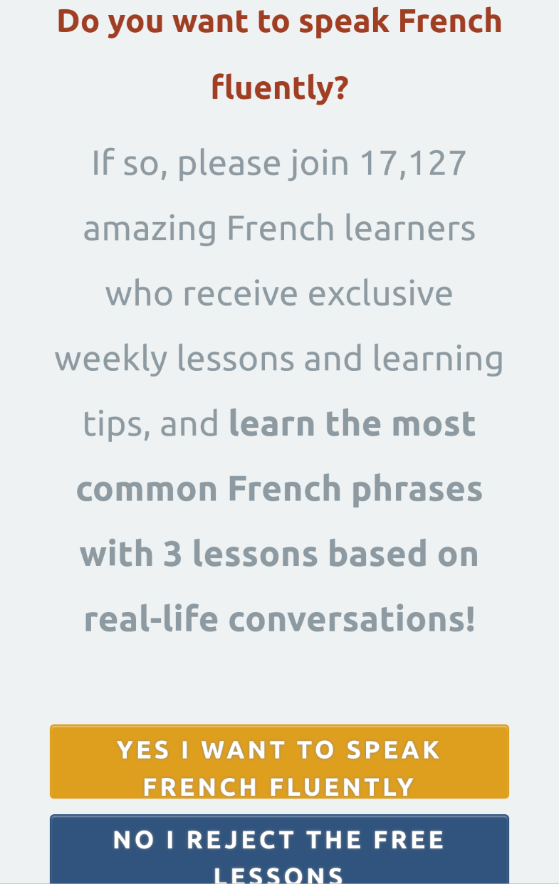 French Together Mobile Optin