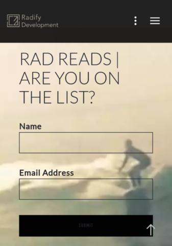 Radify Development Mobile Optin