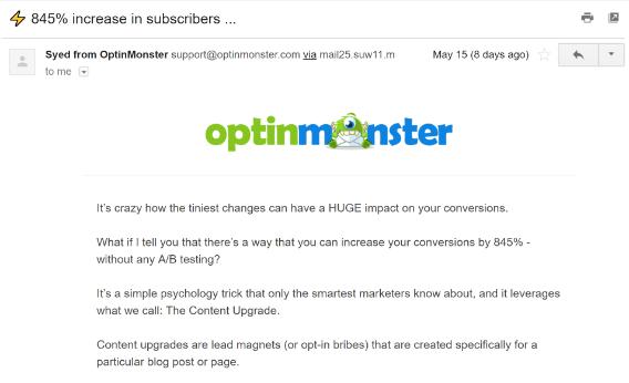 email marketing copy case study