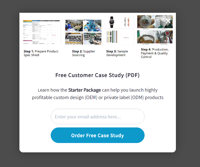 ChinaImportal used case studies to increase their email list