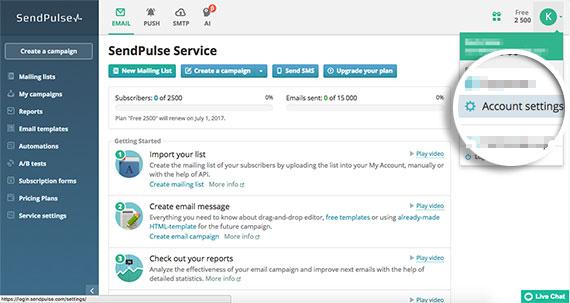 Click-Account-Settings-in-SendPulse