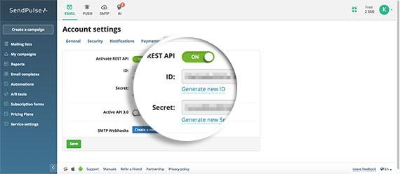 Copy-SendPulse-API-Details