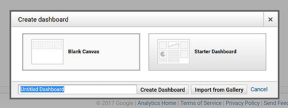 blank canvas analytics dashboard