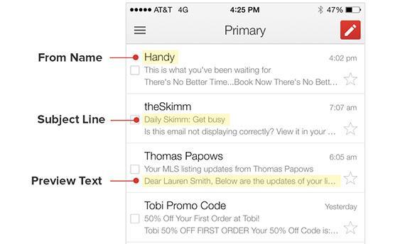 电子邮件预览文本会影响点击率