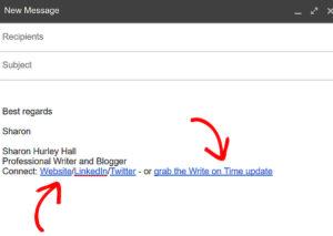 promote blog email signature