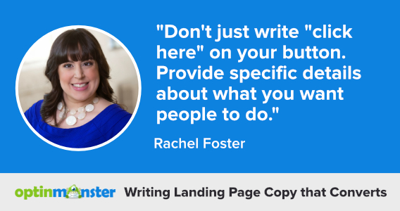rachel foster writing landing page copy