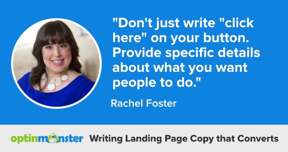 rachel foster writing landing page copy