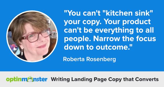roberta rosenberg writing landing page copy