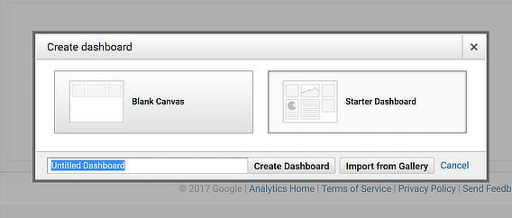 starter google analytics dashboard