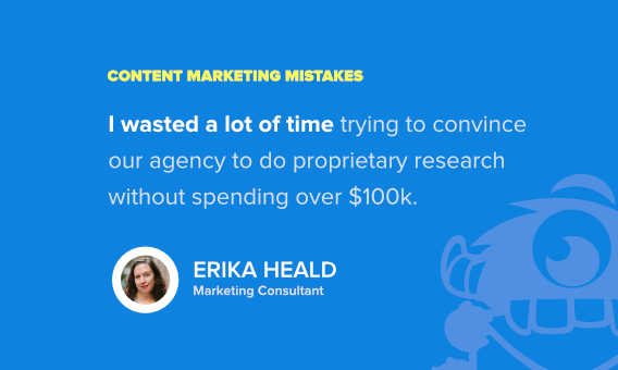 Erika heald content marketing fail