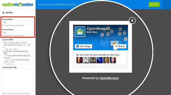 OptinMonster FB LIke Popup