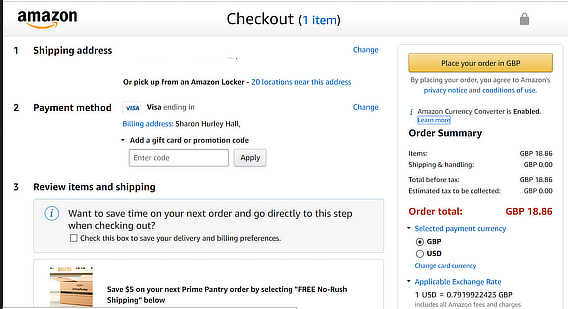 amazon ecommerce checkout
