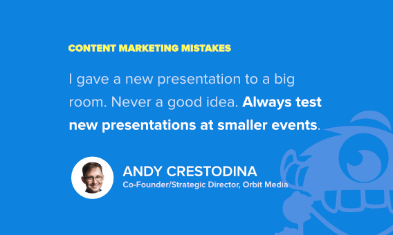 andy crestodina content marketing fails