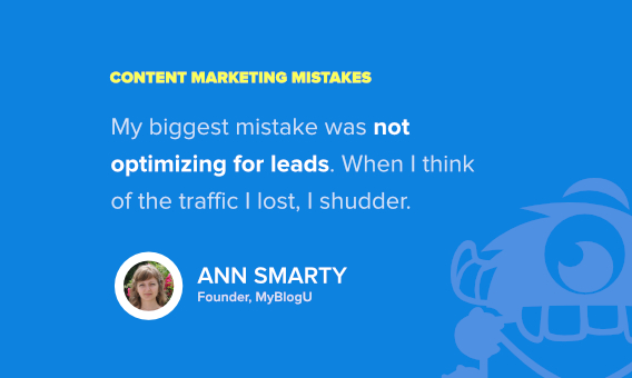 ann smarty content marketing mistake