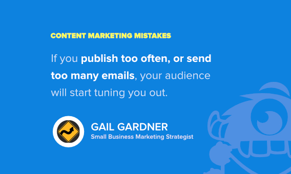 gail gardner content marketing mistakes