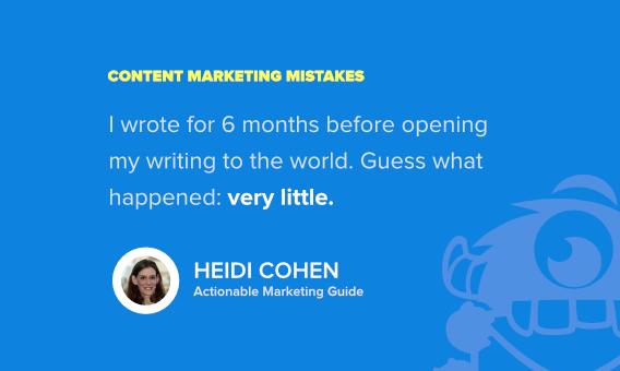 heidi cohen content marketing mistake