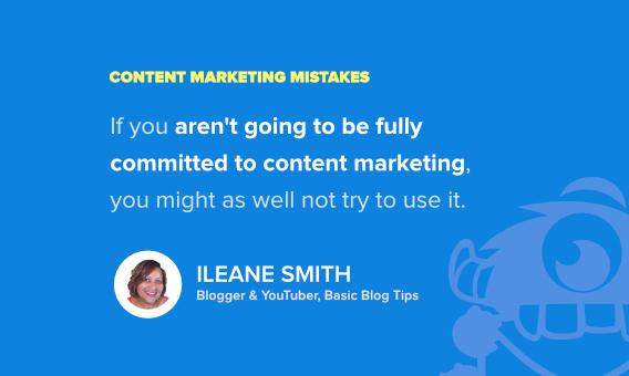 ileane smith content marketing fails