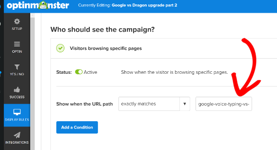 om page level targeting