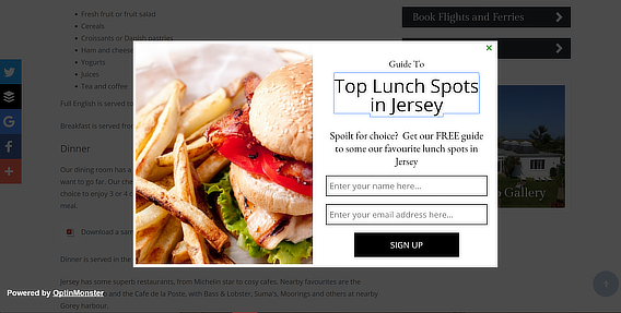 restaurant advertising ideas