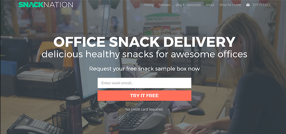 snack nation email marketing example
