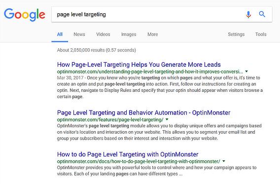content marketing roi search