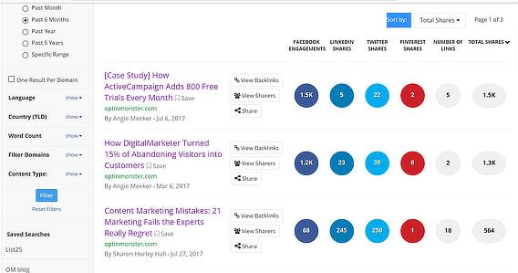 content marketing success buzzumo
