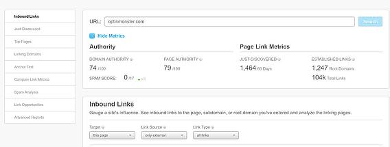 content marketing success moz site explorer