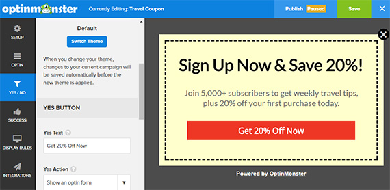 customize your travel campaign