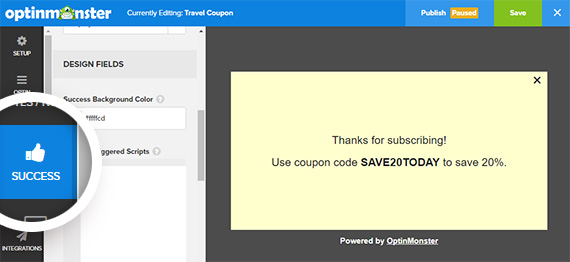 travel campaign with coupon