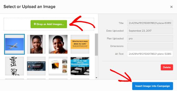 schedule marketing campaigns - add image