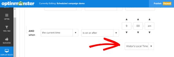schedule marketing campaigns timezone