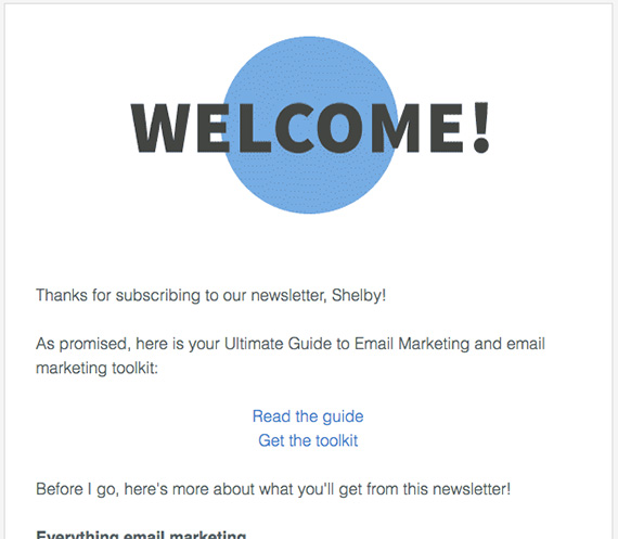 thank you for subscribing email example