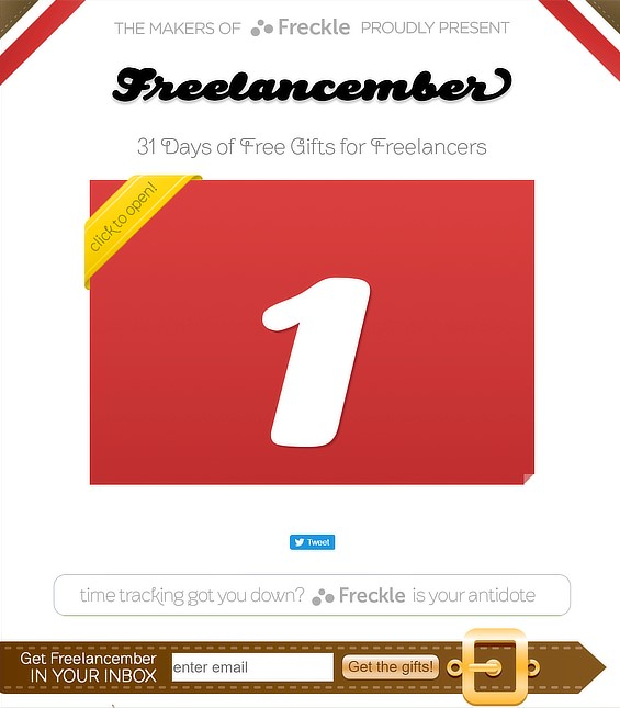freelancember holiday email marketing